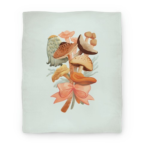 Bouquet Of Mushrooms Blanket