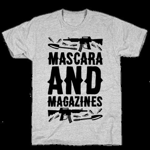Mascara and Magazines Mens T-Shirt