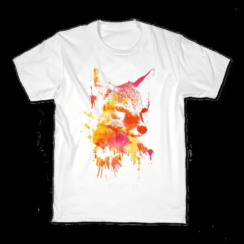 Watercolor Fox Kids T-Shirt