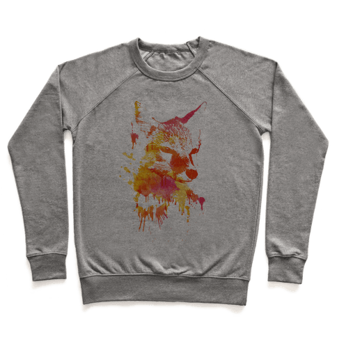 Watercolor Fox Pullover