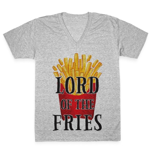 Lord of the Fries V-Neck Tee Shirt