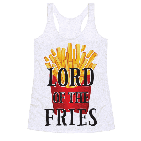 Lord of the Fries Racerback Tank Top