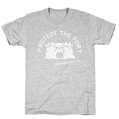 Protect the Fort, Snowpocalypse Winter Games Mens T-Shirt