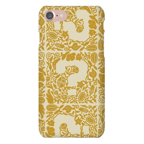 Floral Question Block Phone Case