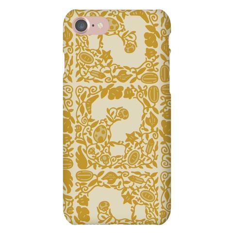 Floral Question Block Phone Case
