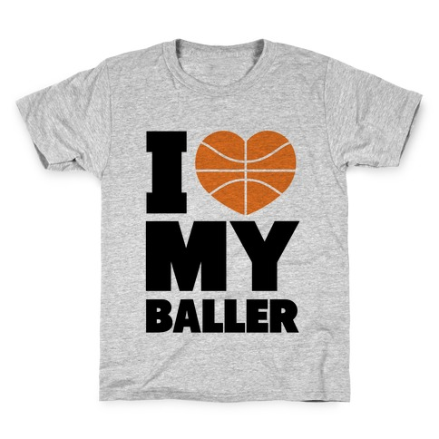 I Love My Baller Kids T-Shirt