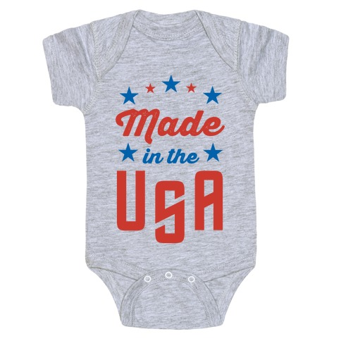 Made in the USA (Red & Blue) Baby Onesy