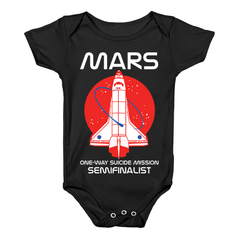 Mars One Way Mission Baby Onesy
