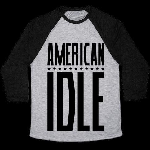 American Idle Baseball Tee