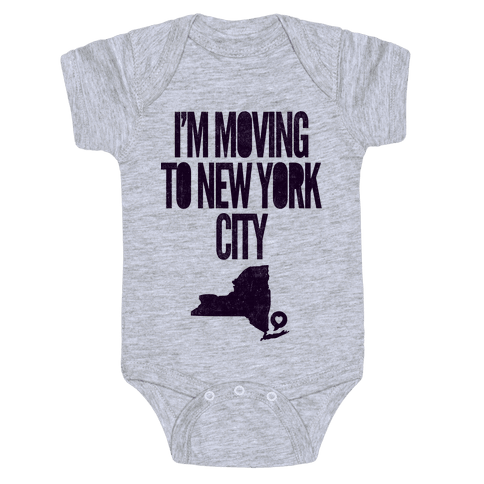 I'm Moving To NYC Baby Onesy