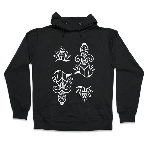 Illuminati Tattoo Daggers Hooded Sweatshirt