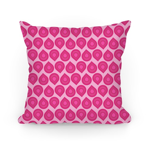 Retro Pink Tear Drop Pattern