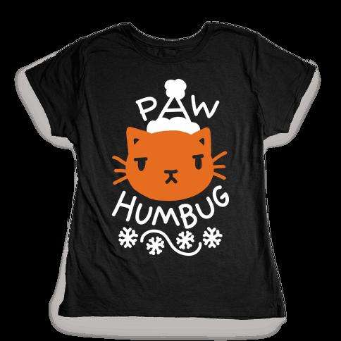 Paw Humbug Cat Womens T-Shirt