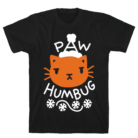 Paw Humbug Cat Mens T-Shirt