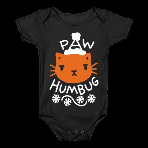 Paw Humbug Cat Baby Onesy