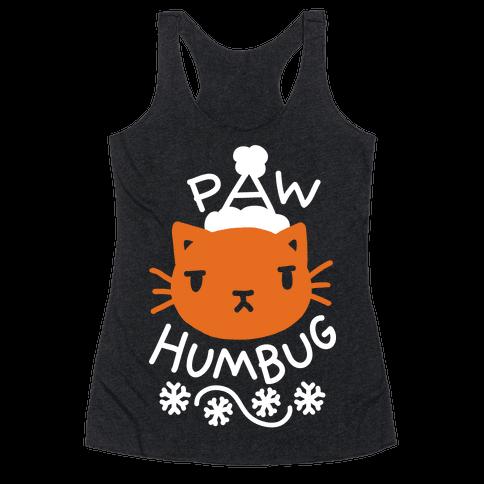 Paw Humbug Cat Racerback Tank Top