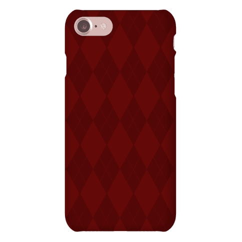 Maroon Argyle Phone Case