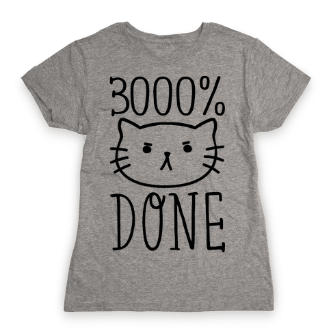 3000% Done Womens T-Shirt