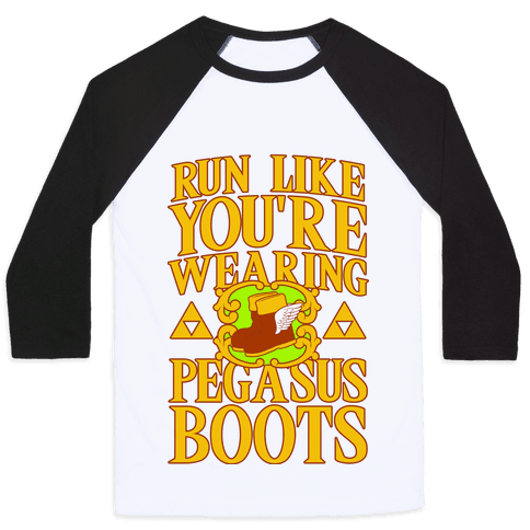 Run Like You're Wearing Pegasus Boots Baseball Tee