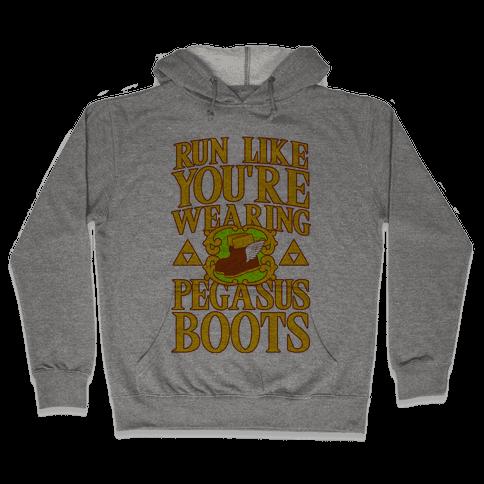 Run Like You're Wearing Pegasus Boots Hooded Sweatshirt