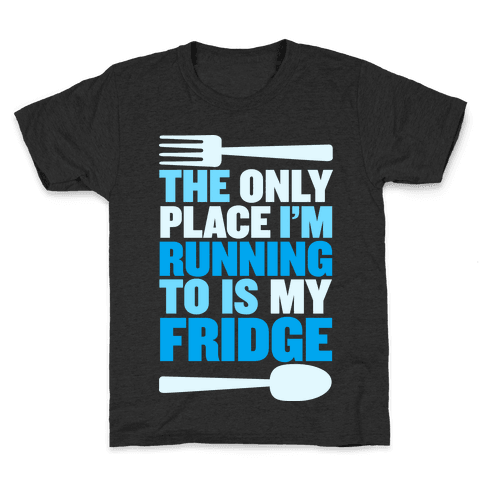 Running to My Fridge Kids T-Shirt
