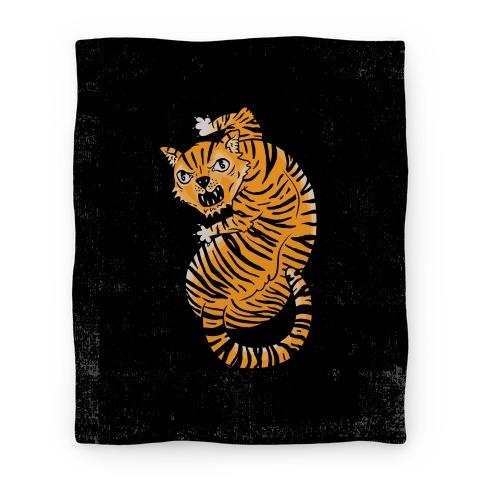 The Ferocious Tiger Blanket
