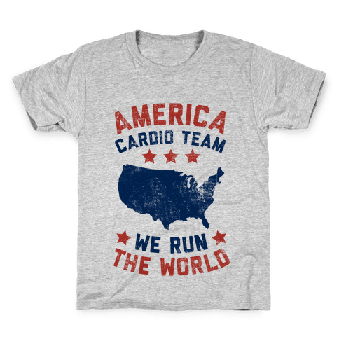 America Cardio Team (We Run The World) Kids T-Shirt