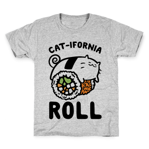 California Cat Roll Kids T-Shirt
