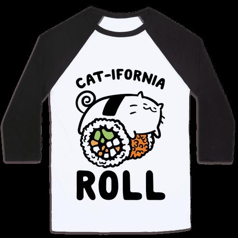 California Cat Roll Baseball Tee
