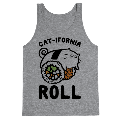 California Cat Roll Tank Top