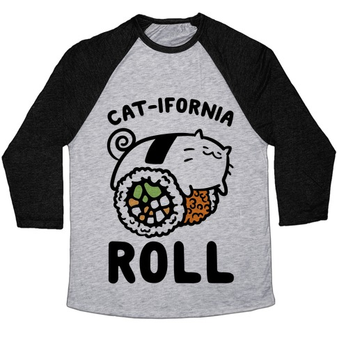 California Cat Roll Baseball Tee