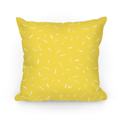 Yellow Confetti Pattern Pillow
