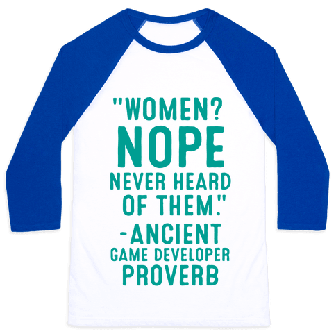 Game Developer Proverb Baseball Tee