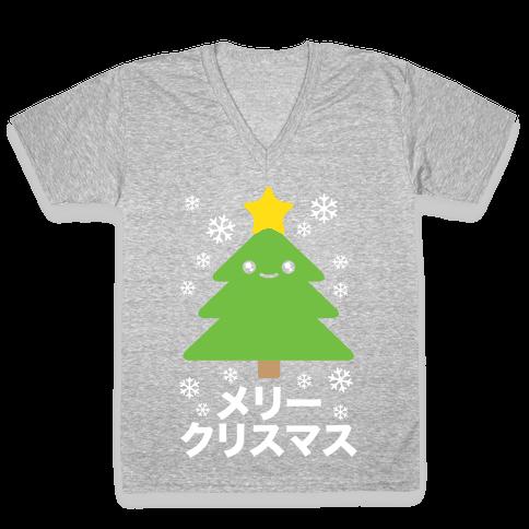 Kawaii Christmas V-Neck Tee Shirt