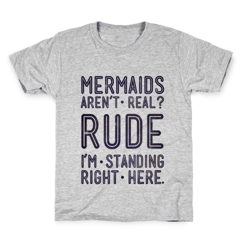 Mermaids Are Real Kids T-Shirt