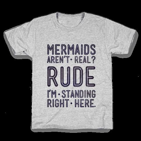 Mermaids Are Real Kids T-Shirt