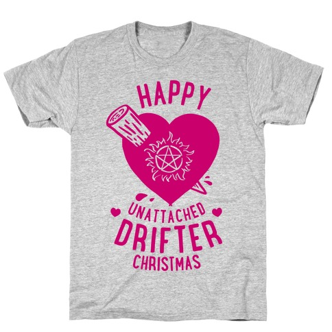 Happy Unattached Drifter Christmas Mens T-Shirt