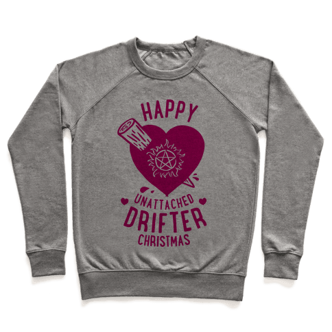 Happy Unattached Drifter Christmas Pullover