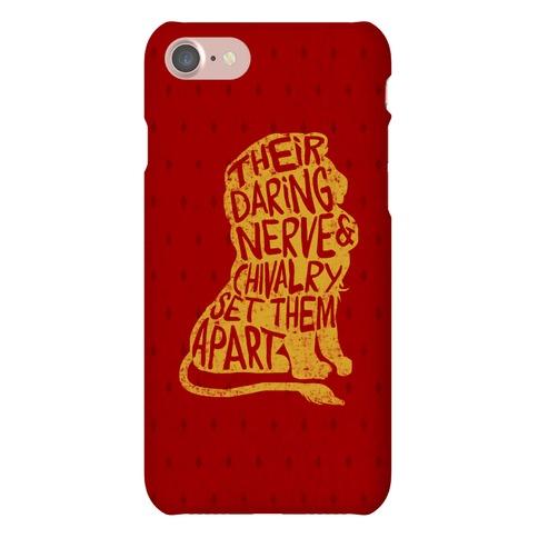 Their Daring Nerve & Chivalry Set Them Apart (Gryffindor) Phone Case