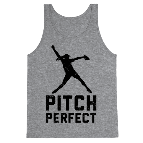 Softball Pitch Perfect (Baseball Tee) Tank Top