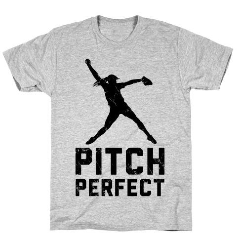 Softball Pitch Perfect (Baseball Tee) T-Shirt