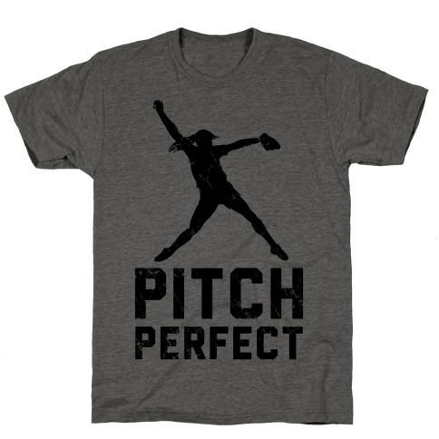 Softball Pitch Perfect (Baseball Tee) T-Shirt