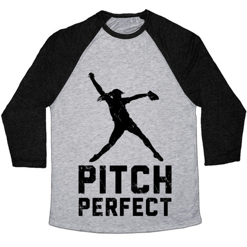 Softball Pitch Perfect (Baseball Tee) Baseball Tee