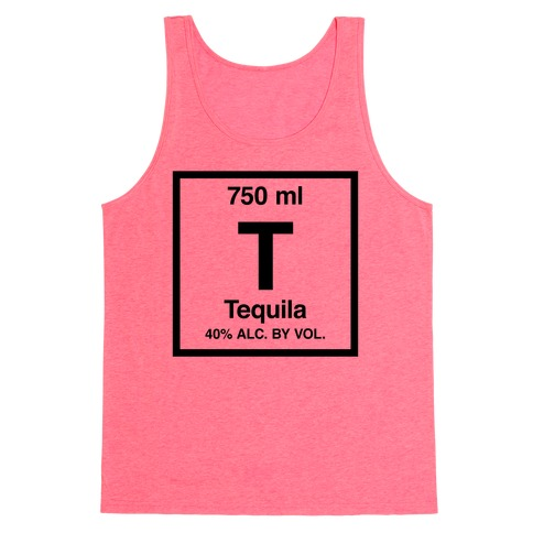 Tequila Element (Periodic Alcohol) Tank Top