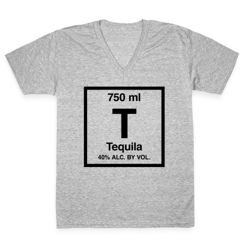 Tequila Element (Periodic Alcohol) V-Neck Tee Shirt