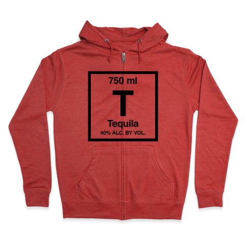 Tequila Element (Periodic Alcohol) Zip Hoodie