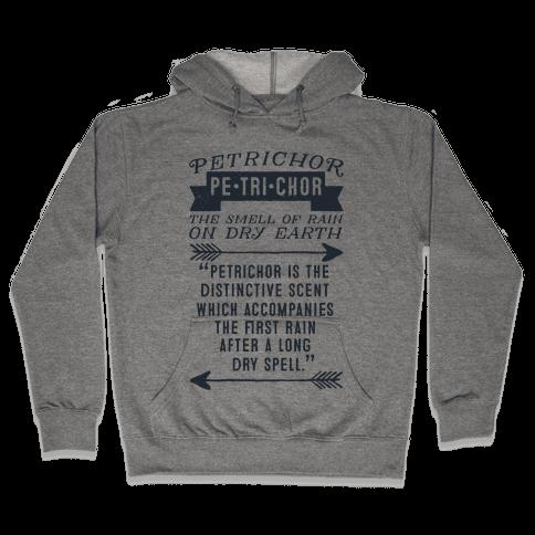 Petrichor Definition Hooded Sweatshirt