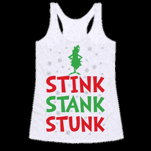 Stink Stank Stunk Racerback Tank Top