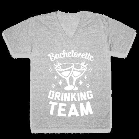 Bachelorette Drinking Team V-Neck Tee Shirt