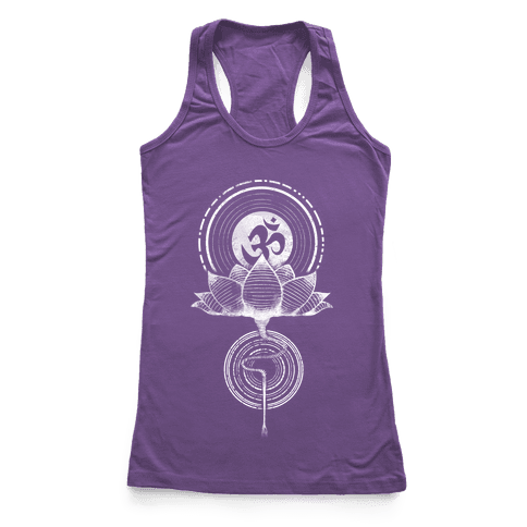 Aum and Lotus Racerback Tank Top